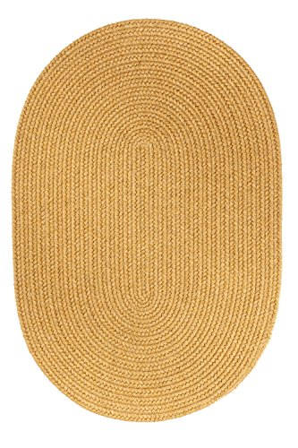 Rhody Rug Solid Wool Rug, 3 by 5-Inch, Vintage Gold