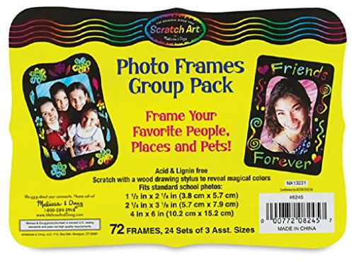 Scratch-Art Classroom Packs Scratch-Art Photo Frames Group Pack (Photo Frame Craft compare prices)