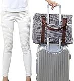 Green Standard 旅上手 荷物が増えても安心 BAG on BAG バッグオンバッグ 旅行用 サブバッグ ストライプ柄 (ブラウン)