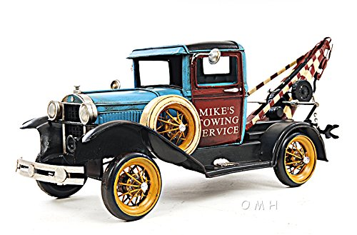 Automobile, 1931 FORD MODEL A TOW TRUCK 1:12-SCALE, 16.8L x 6.0W x 6.0H Inches , In March 1930, Ford Model A sales hit three million, and there were nine body styles available. One of them was the Ford Model A Tow Truck.