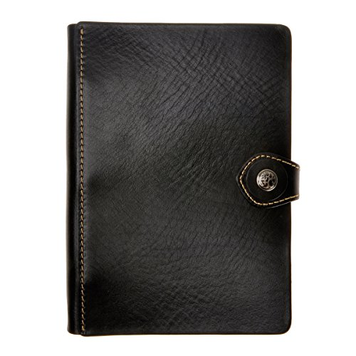 ZLYC Handmade Leather Travelers Journals Handwriting Journal Notebook Diary Men Women Anniversary Gifts, Black