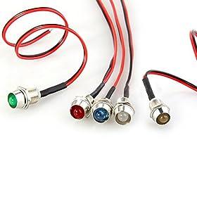 Weksi 5pcs LED Indicator Light Bulb Lamp Pilot Dash Directional Auto Car Truck Boat 12V