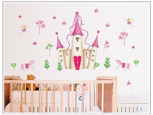 Onehouse Big Pink Dream Castle Fairy Wall Decal Sticker Mural front-118182