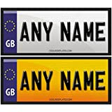 Coolrideplates® Little Tikes Cozy Coupe Kids 90X50mm Personalised Rear Number Plate Self-Adhesive Stickers *SIMPLY ADD A GIFT MESSAGE WITH THE NAME REQUIRED WHEN ORDERING*