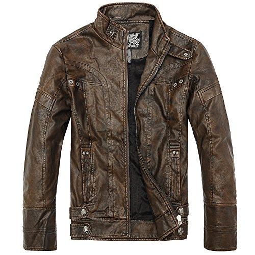 Men's Slim Wear Faux Leather Jacket