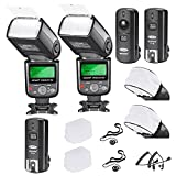 Neewer® PRO i-TTL Flash *Deluxe Kit* for NIKON DSLR D7100 D7000 D5300 D5200 D5100 D5000 D3200 D3100 D3300 D90 D800 D700 D300 D300S D610, D600, D4 D3S D3X D3 D200 N90S F5 F6 F100 F90 F90X D4S D SLR Camera- Includes: 2 Neewer Auto-Focus Flashes + Wireless T