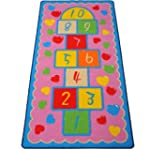 "74"" Children's Hopscotch Rug Game Mat..."