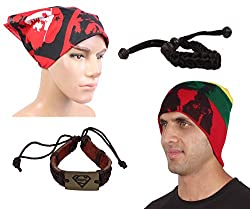 Sushito Winter Protect Woolen Cap With Stylish Wrist Band & With Stylish Headwrap