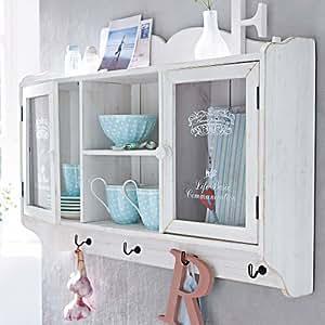 wandschrank landhaus bedruckte glast ren 4. Black Bedroom Furniture Sets. Home Design Ideas