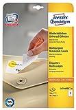 Avery Zweckform L4744REV-25 Universal-Etiketten 25 Blatt weiß