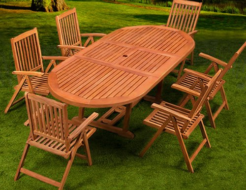 Garden Furniture Garden Dining Furniture Set Vanamo Table And Chairs Set Tropical Wood Fsc