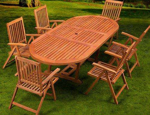 Salon de jardin en teck honeyberry giant for Table en teck pas cher