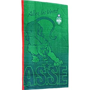 Drap de sport / serviette de plage ASSE - Collection officielle AS SAINT ETIENNE - Taille 75 x 150cm - Football Ligue 1