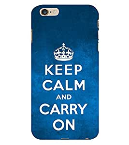 99Sublimation Carry On Quote 3D Hard Polycarbonate Back Case Cover for Apple iPhone 6S