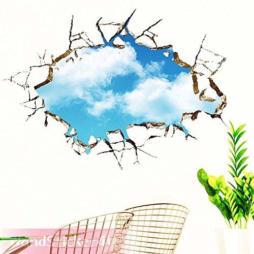 sticker4u-mural-nuages-dans-le-ciel-effet-3d-amovible-sticker-mural-trou-photo-mural-sticker-sticker