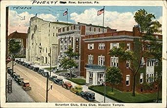 scranton club elks club masonic temple scranton pennsylvania original vintage postcard at. Black Bedroom Furniture Sets. Home Design Ideas