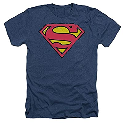 Superman: Distressed Shield Heather T-Shirt
