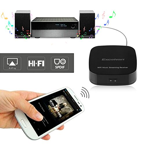 Excelvan M1 WIFI Audio HIFI Music Streaming Receiver Adapter Dongle For Home Stereo Portable Speakers From IOS Android Mac Smartphone Tablet Ipad Iphone Windows PC AirMusic AirPlay WIFI DLNA Qplay Music (Shipped From U.S.) (Wifi Direct Audio Receiver compare prices)
