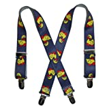 CTM® Kids Elastic 1 Inch Wide Clip-End Duck Pattern Suspenders
