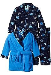 Baby Bunz Baby Boys' 3 Piece Space Robe and Pajama Set