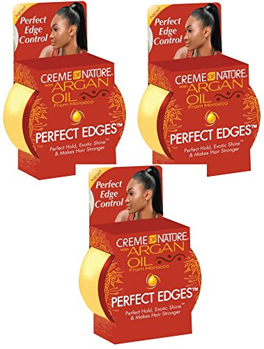 Creme of Nature Argan Oil Perfect Edges Control Hair Gel-2.25 oz (Pack of 3) (Edge Control For Hair compare prices)