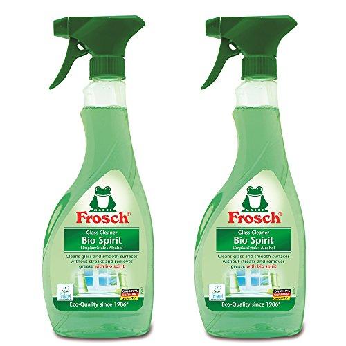 Frosch Natural Bio Spirit Glass & Multi Surface Cleaner, 500ml (Pack of 2) (Honest Multi Surface Cleaner compare prices)