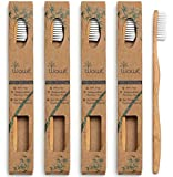 Natural Bamboo Toothbrush - Eco Friendly - BPA Free Bristles - 4 Pack - WowE Products