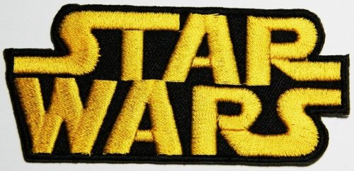 Star Wars patches logo Shirt Jacket Patch Sew Iron on Embroidered / Size 9.3x4.3 cm