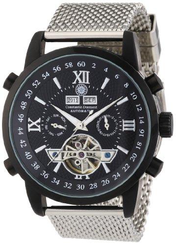 Constantin Durmont Men's Watch Calendar CD-CALE-AT-STM-IPIP-BK