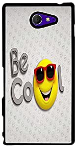 PrintVisa Cartoon Cool Smiley Back Cover for Sony Xperia M2 (2D-SXPM2-D7728)