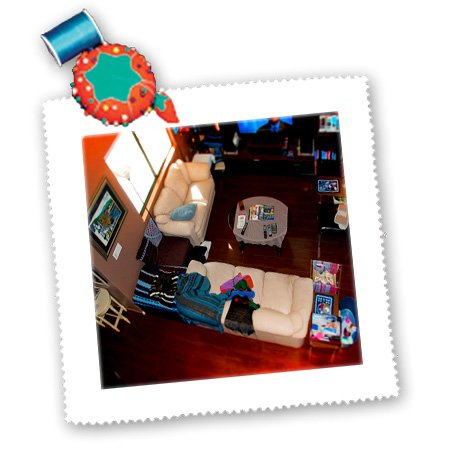 Qs_45384_1 Jos Fauxtographee Miniatures - Coffee Table, Couch With Wood Floors From A View Above Edited In A Tilt Shift Made To Look Miniature - Quilt Squares - 10X10 Inch Quilt Square