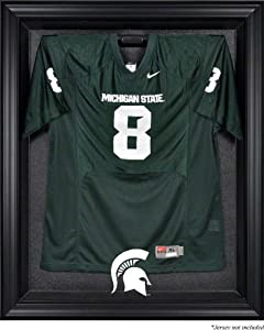 Michigan State Spartans Brown Framed Logo Jersey Display Case by Sports Memorabilia