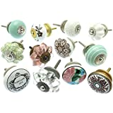 Mixed Set of Vintage Style Ceramic Cupboard Knobs x Pk 12 (GEE-02) - 'Vintage-Chic' TM