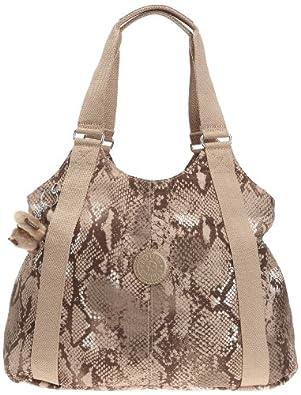 Kipling Women's CICELY Shoulder Bag  Beige Beige (Beige Snake Pr) Size: 43x36x13 cm (B x H x T)
