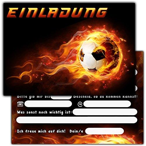 11 Fussball Einladungskarten zum Kindergeburtstag // Geburtstagseinladungen Jungen Mädchen Kinder Einladungen Fussballparty Einladungstext Vorlage Geburtstag Karten Set