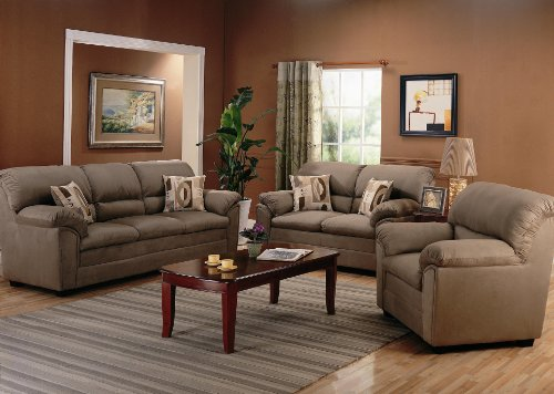 Buy Low Price AtHomeMart 3PC Casual Sofa, Loveseat, and Chair Set (COAS502221_502222_502223_3PC)