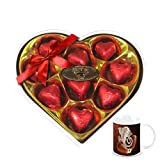 Chocholik's Legend Heart Shape Nicely Wrapped Chocolates With Diwali Special Coffee Mug - Diwali Gifts