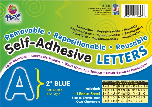 Pacon Letters, 2-Inch, Blue-12 (0051653) - 1