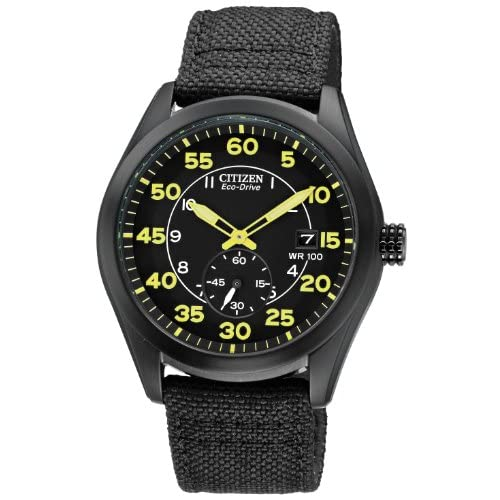 Citizen-Watch-Mens-Quartz-Watch-with-Black-Dial-Analogue-Display-and-Black-Nylo