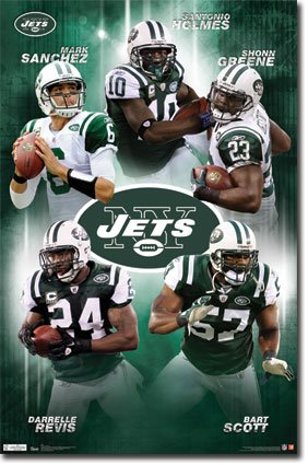 (22x34) New York Jets Collage Sports Poster Print at Amazon.com