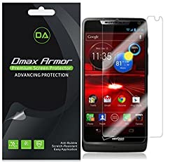 [6-Pack] Dmax Armor- Motorola Luge Screen Protector Anti-Bubble High Definition Clear Shield - Lifetime Replacements Warranty- Retail Packaging