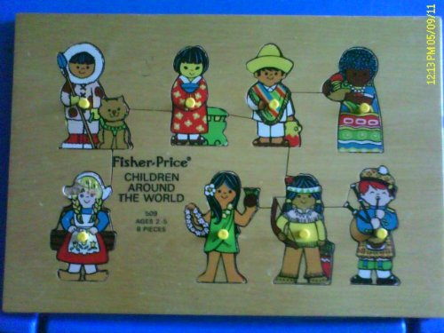 Picture of Fisher Price Vintage Fisher Price Children Around the World Wood Puzzle (B00501NCM2) (Pegged Puzzles)