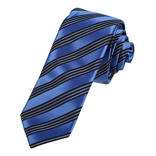 DAE7A07-09-Style-Mens-Microfiber-Skinny-Tie-Stripes-Easter-Slim-Tie-By-Dan-Smith