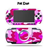 Protective Vinyl Skin Decal Cover Sticker for SONY PSP - Pink Camo