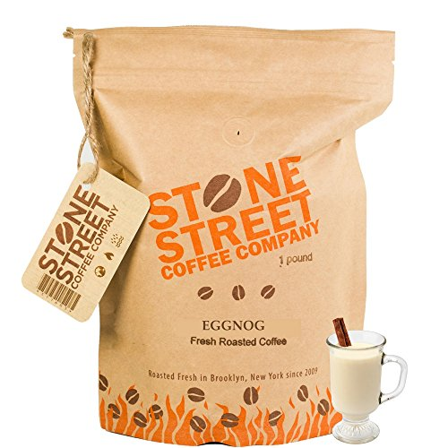 HOLIDAY EGGNOG Flavored Ground Coffee | 1 LB Bag | Freshly Roasted 100% Colombian Arabica | Premium Quality Cinnamon/Nutmeg Creamy Flavor (Unique Coffee compare prices)