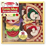 Melissa & Doug 37 Pc Felt Food Pizza/Sandwich Combo Meal