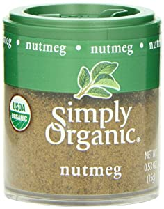 Simply Organic Nutmeg Ground Organic, Mini Spice, 0.53 Ounce (Pack of 6)