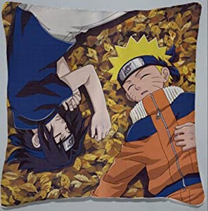 Decorative Japanese Anime Throw Pillow Covers Cushion Covers Pillowcase Naruto Sasuke, 16x16 Double-sided Design