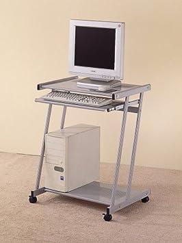 Luxury Computer Desks Coaster Contemporary Computer Workstation Office Desk Table Silver Finish