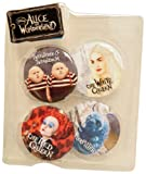 Disney 4 Pack Pin Set - Tweedle Dee and Tweedle Dum, White Queen, Red Queen, and Caterpillar